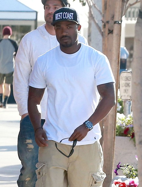 Exclusive... Ray J Out For Lunch At Le Petit Four