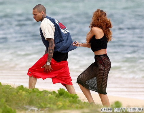 Rihanna Rushes Home To Chris Brown After Seizure - Couple Back Together In Love