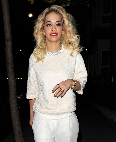 Rita Ora Arriving Home In London