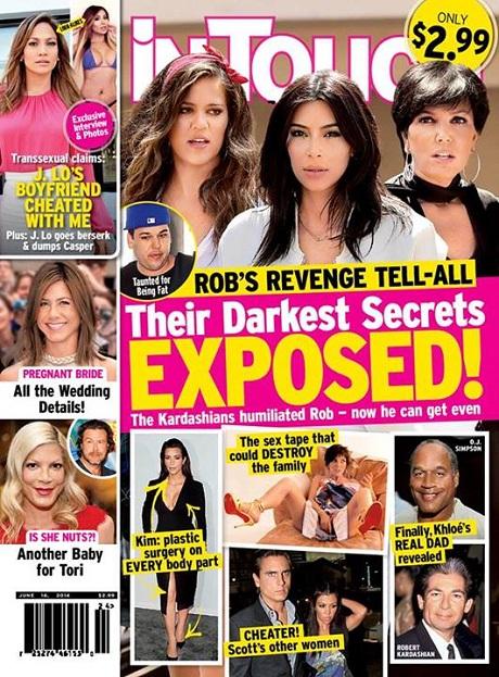 Rob Kardashian's Revenge Tell-All To Expose Countless Family Secrets - Including Kim Kardashian's Drastic Plastic Surgeries! (PHOTO)