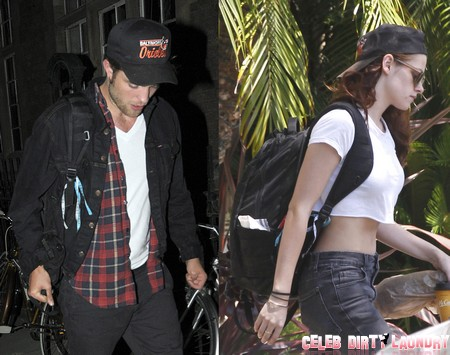 Kristen Stewart and Robert Pattinson Kissing Poolside Photos Fake - Proof Here