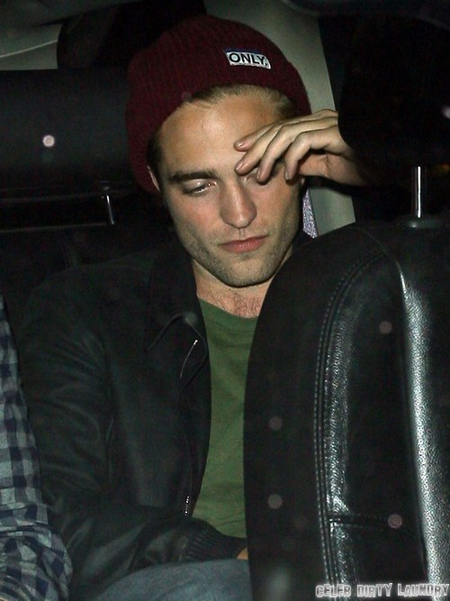 Robert Pattinson Shoves Security Guard Video - Drunk and Stoned Leaving Troubadour Nightclub (PHOTOS)