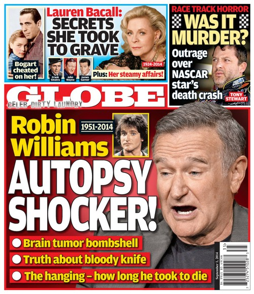 GLOBE: Robin Williams Autopsy Shocker - More Insight Into Suicide (PHOTO)