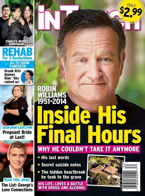 Robin Williams Secret Suicide Note (Photo)