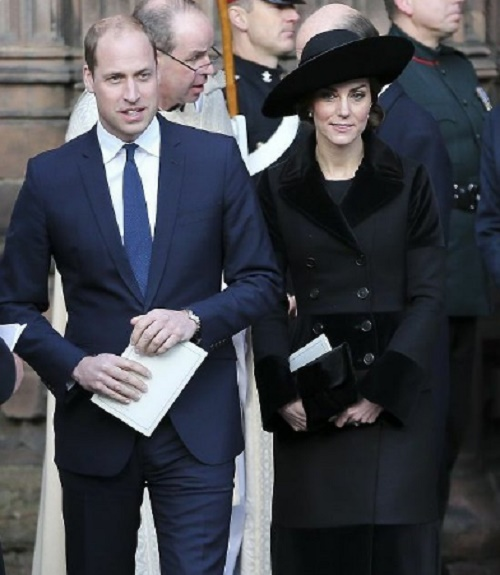 Kate Middleton Accompanies Prince William with Prince Charles and Camilla Parker-Bowles To Duke of Westminster Memorial Service