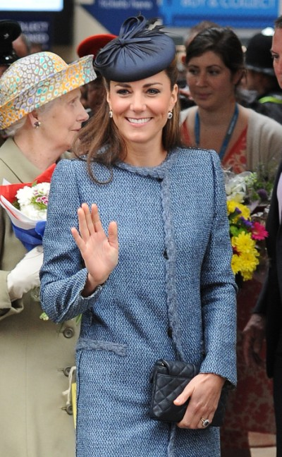 Kate Middleton Reveals New Baby Bump In Old Coat 0613