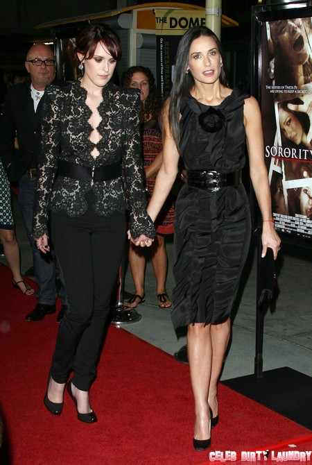 Report: Demi Moore Drags Rumer Willis To Rehab