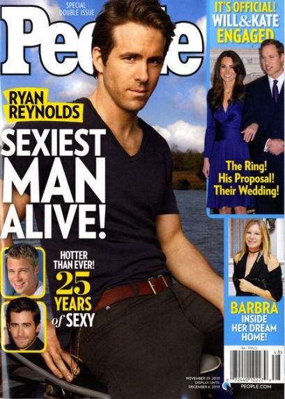 Ryan Reynolds Voted Sexiest Man Alive