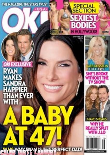 OK! Magazine: Sandra Bullock — A Baby at 47!