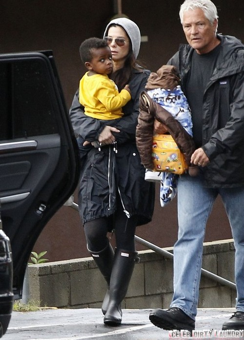 Sandra Bullock Cheating With Married Bodyguard For Son Louis Bardo? (PHOTOS)