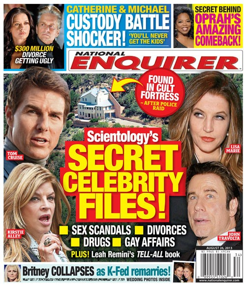 Tom Cruise's, John Travolta's and Kirstie Alley's Scientology Secret Celebrity Files Discovered (Photo)