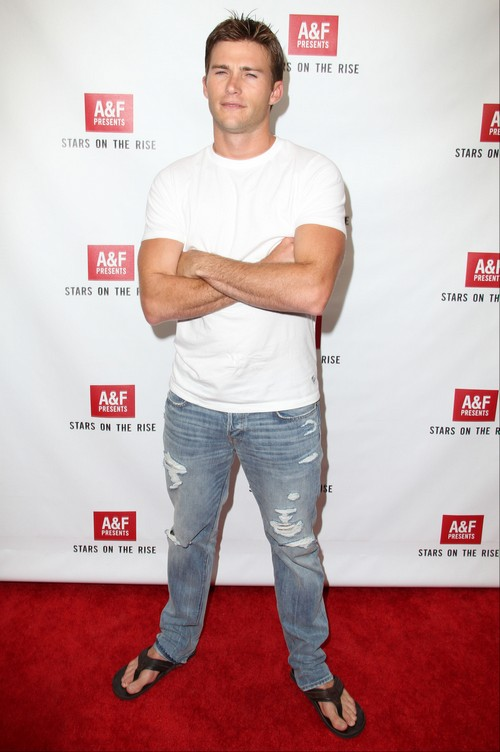 """Brad Pitt Tells Clint Eastwood's Son, Scott Eastwood, """"Don't Get Naked - Keep Your Clothes On"""""""
