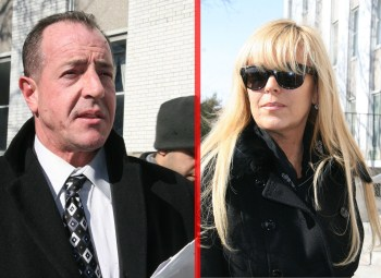 See Dina Lohan With A Nasty Black Eye Holding Baby Lindsay - Michael Lohan Responsible (Photos)
