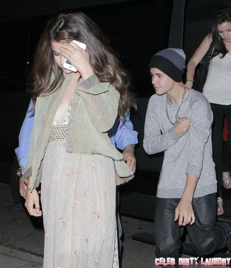 Exclusive... Justin Bieber And Selena Gomez On A Night Out In West Hollywood