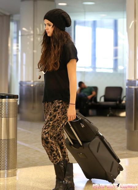 Exclusive... Selena Gomez Departs LAX