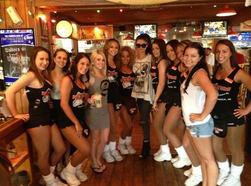 Selena Gomez Hooters Girls – Using Them To Promote Stars Dance, Her New Album
