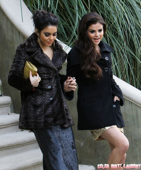 Selena Gomez & Vanessa Hudgens Head To The Golden Globes
