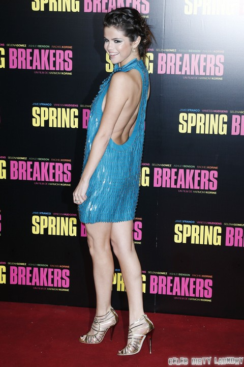 Selena Gomez SideBoob and Near Nip Slip Photos at Spring Breakers Premiere