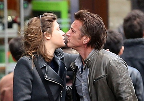 Sean Penn Caught Cheating: Kissing French Actress Adele Exarchopoulos in Paris as Charlize Theron Fumes At Home! (PHOTOS)