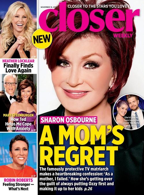 Sharon Osbourne Regrets Failing Her Children, Kelly And Jack Osbourne (Photo)