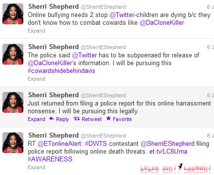 Crazy Twitter Bully Tries To Rape Sherri Shepherd, Claws Come Out