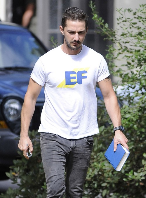 Shia LaBeouf Heads To His AA Meeting