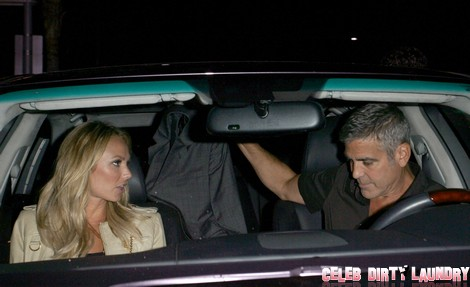 George Clooney's Nasty Ring Trick - Stacy Keibler Is Not Amused