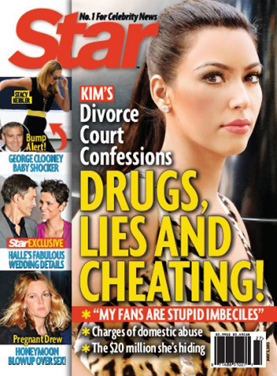 "Kim Kardashian Calls Her Fans ""Stupid Imbeciles"" And More Shocking Divorce Allegations (Photo)"
