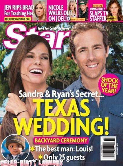 Star Magazine: Sandra Bullock & Ryan Reynold's Secret Texas Wedding!