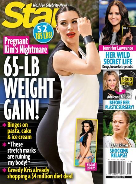 Kim Kardashian's Pregnancy Weight Gain Nightmare, She's Gained 65 Pounds Already! 0306