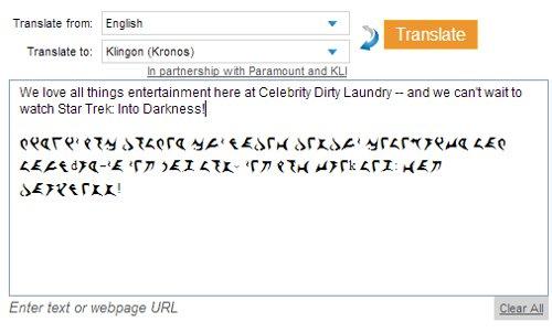 Bing Adds Klingon to 'Bing Translator' in Celebration of 'Star Trek: Into Darkness'!