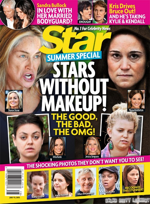 Stars Without Makeup: Mila Kunis, Jessica Simpson, Pippa Middleton, And Katie Holmes - Star Magazine Cover