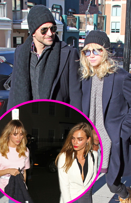 Suki Waterhouse Splits From Bradley Cooper - Pulled Back Into The Party World By Bad Girl Cara Delvingne! (PHOTO)