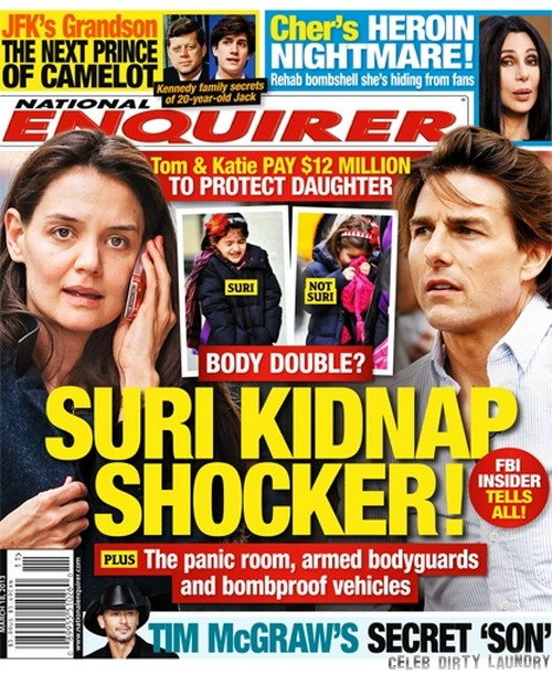 Suri Cruise Kidnap Shocker! (Photo)