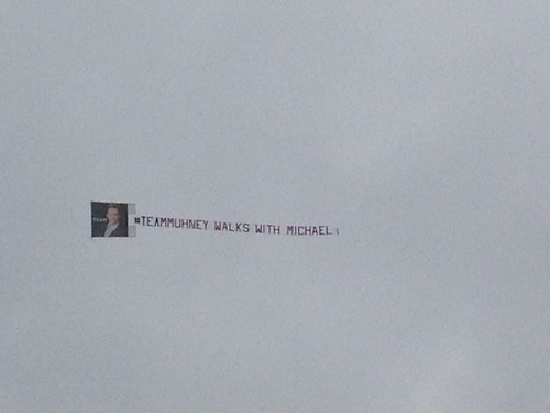Michael Muhney Fans Fly Banner Over CBS In Support of Fired The Young and the Restless Star -  #TeamMuhney Walks With Michael