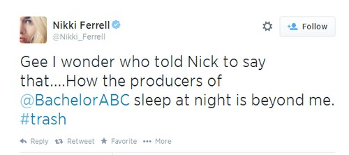 The Bachelorette 2014 Nick Viall and Andi Dorfman Sex Scandal: Nikki Ferrell Slams Producers - Calls Them 'Trash'