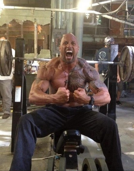 the rock on roids