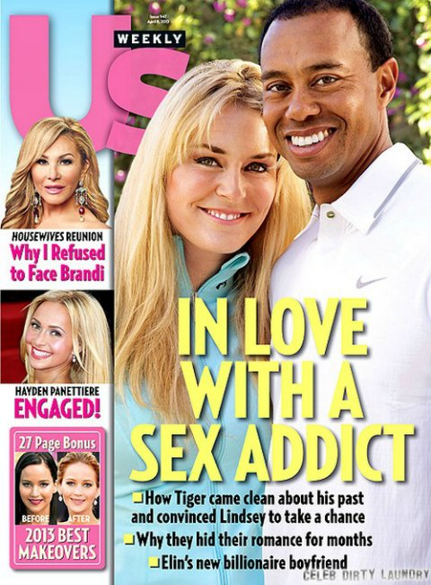 Lindsey Vonn In Love With Sex Addict Tiger Woods (Photo)
