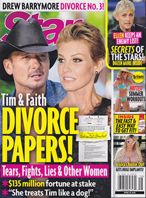 faith hill and tim mcgraw divorce country music stars
