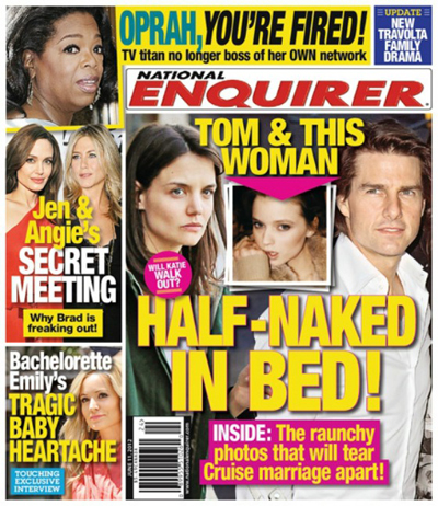 Report: Tom Cruise Is Caught Cheating On Katie Holmes With Another Woman (Photo)
