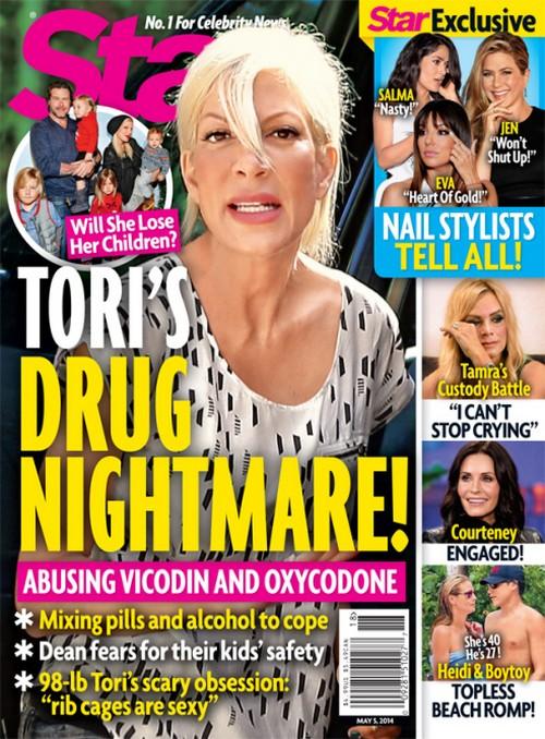 Tori Spelling Drug Nightmare - Losing Custody of Children as Dean McDemott Panics Over Kid's Safety (PHOTO)