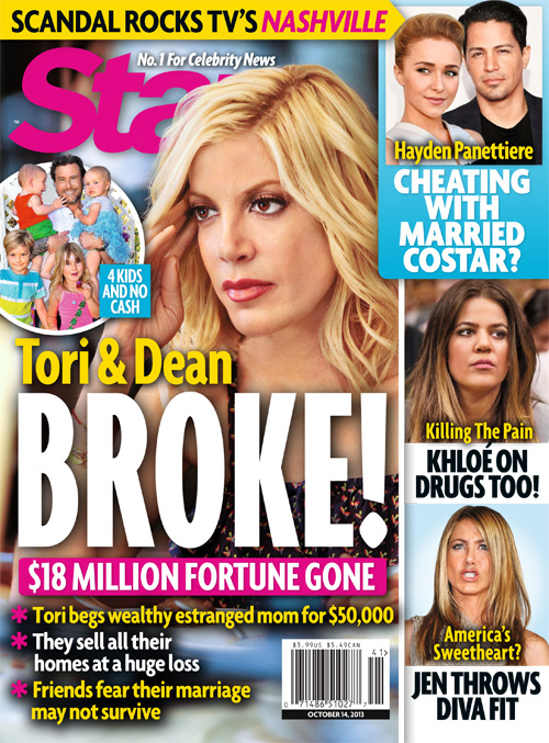 Tori Spelling: So Poor She Can't Afford a Vasectomy For Dean McDermott But She Still Buys Plastic Surgery! (PHOTOS - VIDEO)