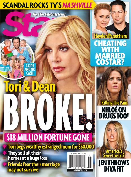 Tori Spelling Face Dean McDermott Face Bankruptcy and Divorce - Tori in Denial (PHOTO)
