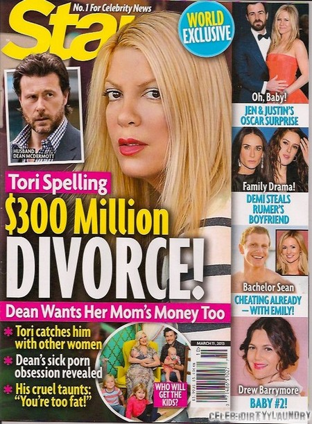 Tori Spelling & Dean McDermott's $300 Million Divorce (Photo)