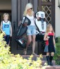 Tori Spelling Leaving The House In Style