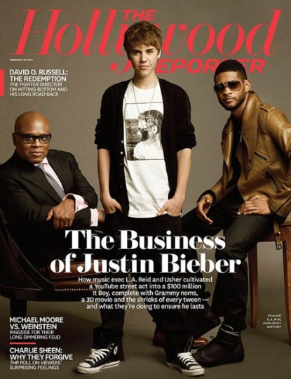 Justin Bieber and Usher Cover The Hollywood Reporter