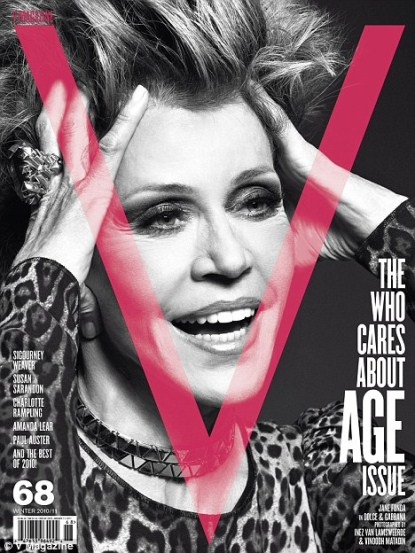 Who Cares About Age?  Jane Fonda, Susan Sarandon, Sigourney Weaver Strip for V Magazine