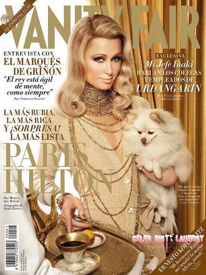Paris Hilton 'Simply Stunning' On the Cover of Vanity Fair Spain January 2012