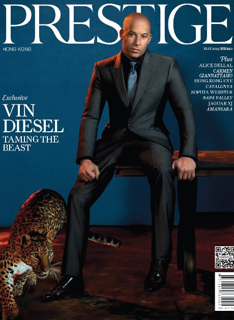 """Vin Diesel on the Cover of Prestige Hong Kong: How """"Fast and Furious 6"""" Will Make History"""