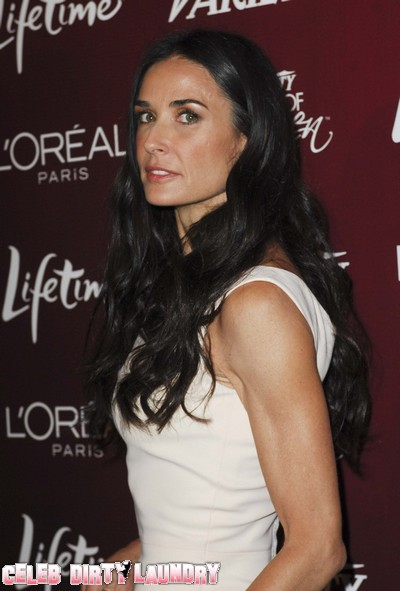 Demi Moore Fears Bruce Willis And Ashton Kutcher On A Collision Course